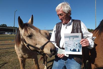 Joe Mann and Paso Fino horse at Big Oaks Rescue Farm in Greenwood, SC
