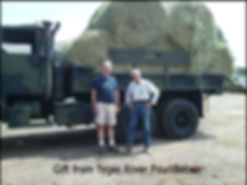 Hay donated to farm by Tyger River Foundation