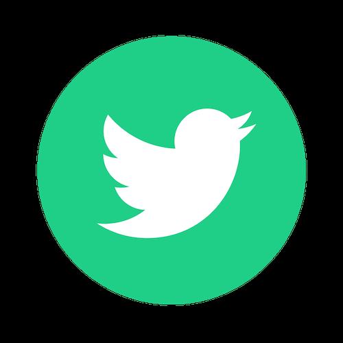 twitter green logo