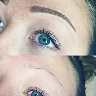 Powder Brow Tattoo for this young lady w