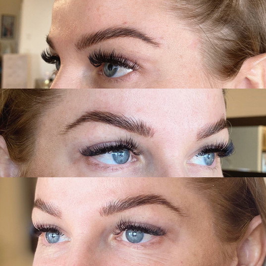 Healed Powder Brows with Brow Lamination