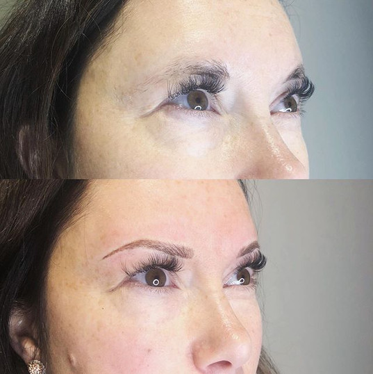 Lovely Brow transformation today!! How G