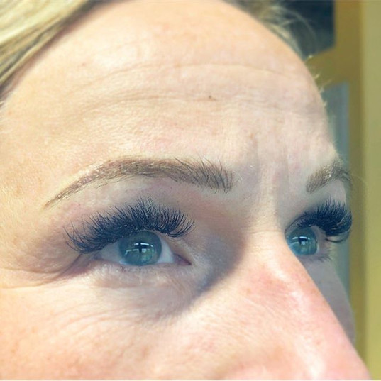 Just finished the touch up on her Brows