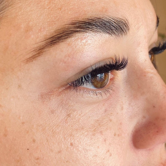 Brow Lamination and Henna Freckles