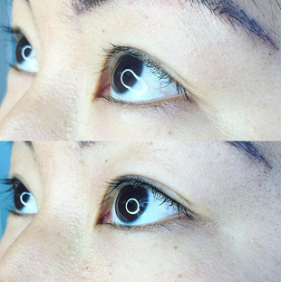Before and afters. Lashline enhancement.