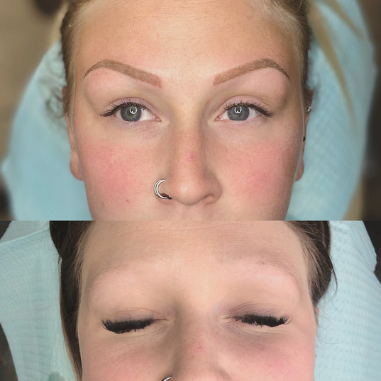 Before and After Powder Brows