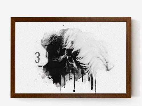 Queen B3 | 25 x 17 Hanging Canvas