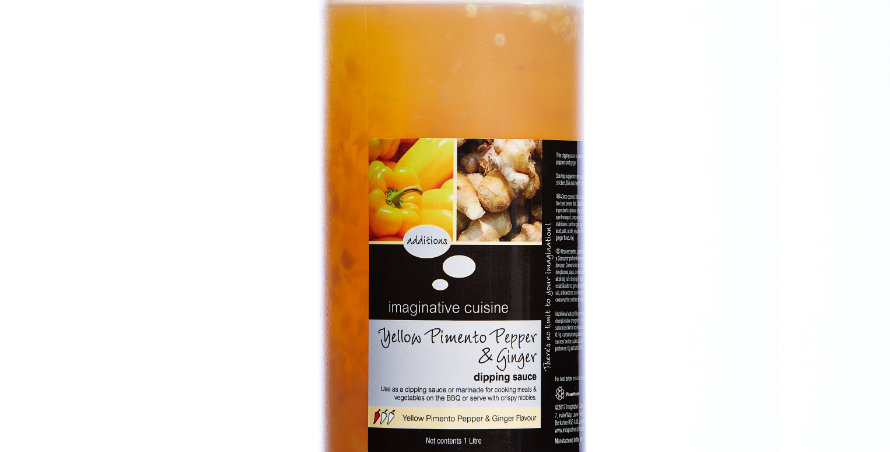 Asian Dipping Sauce Yellow Pepper & Ginger Flavour 1 x 1litre