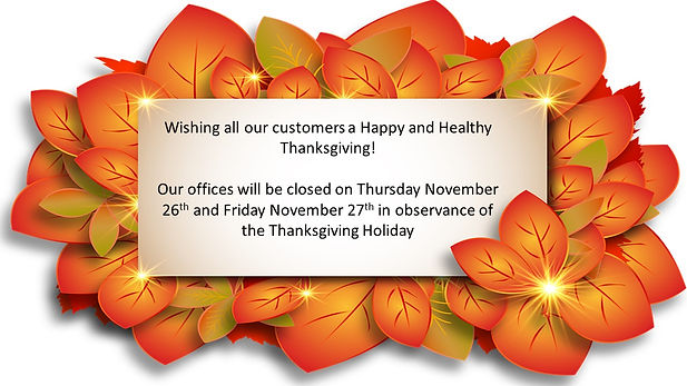 Thanksgiving Closure