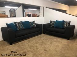 JANA SOFA AND LOVESEAT
