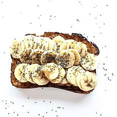 Sunflower or Peanut Butter Banana Toast