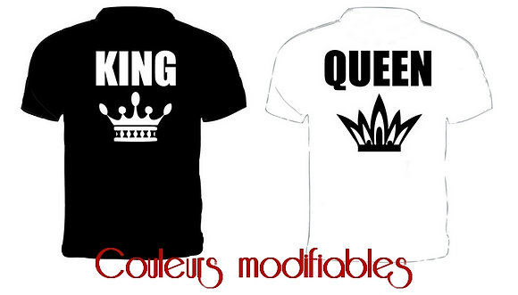 TEE-SHIRTS DUO KING QUEEN
