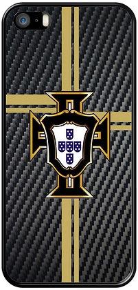 COQUE IPHONE PORTUGAL CARBONE NOIR