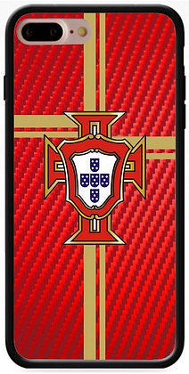COQUE IPHONE PORTUGAL CARBONE ROUGE