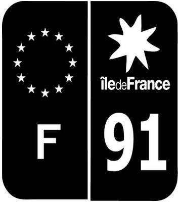 PLAQUE IMMATRICULATION REGION ILE DE FRANCE