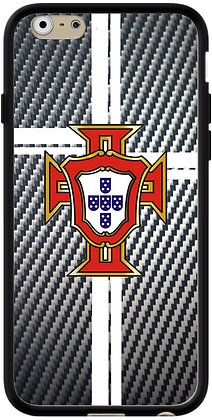 COQUE IPHONE PORTUGAL CARBONE ARGENT