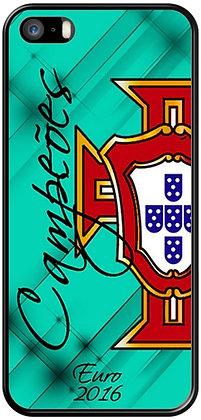 COQUE IPHONE PORTUGAL EURO 2016 CAMPEOES VERT / BLEU
