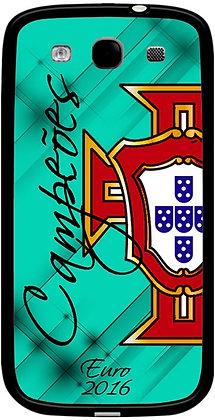 COQUE SAMSUNG PORTUGAL EURO 2016 CAMPEOES VERT / BLEU