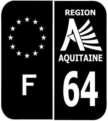 PLAQUE IMMATRICULATION REGION AQUITAINE