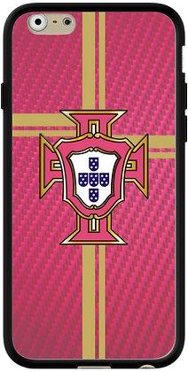 COQUE IPHONE PORTUGAL CARBONE ROSE