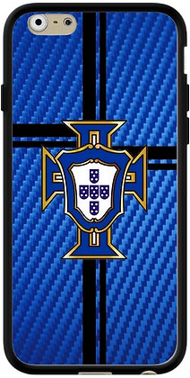 COQUE IPHONE PORTUGAL CARBONE BLEU