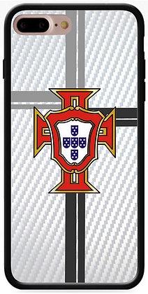 COQUE IPHONE PORTUGAL CARBONE BLANC
