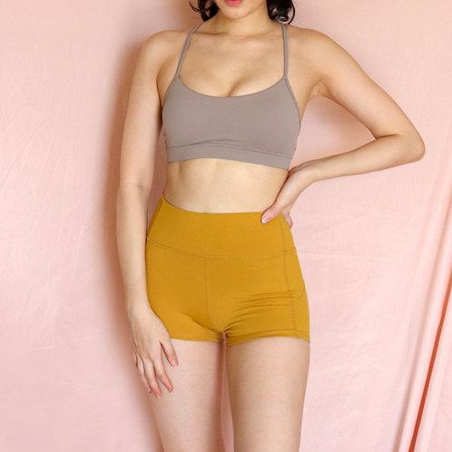 Naomi Basic Shorts in Mustard