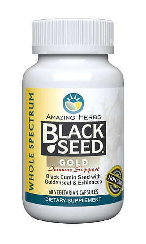 Amazing Herbs Black Seed Gold (Echinacea& Goldenseal)