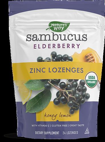 Sambucus Elderberry Zinc Lozenges Honey Lemon