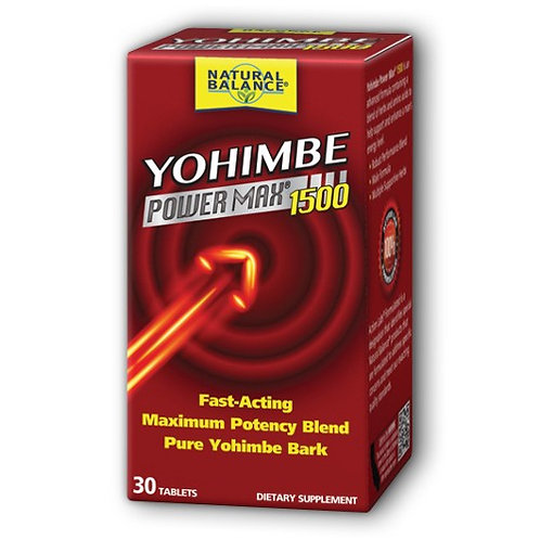 Yohimbe Power Max 1500 30ct