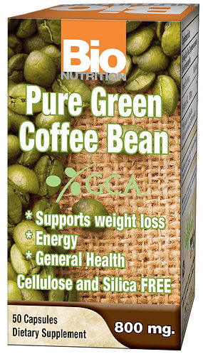 Bio Nutrition Pure Green Coffee Bean Capsules with GCA