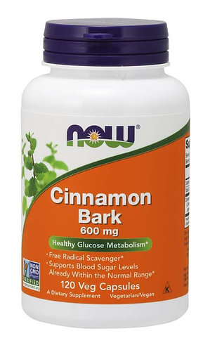 Cinnamon Bark 600 mg Veg Capsules