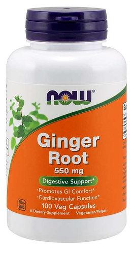 Ginger Root 550 mg Veg Capsules