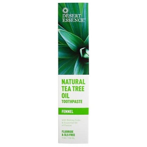 Desert Essence Toothpaste Tea Tree Oil - Fennel 6.25oz