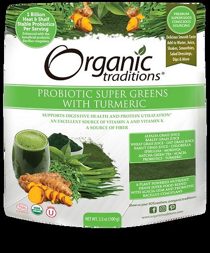 Organic Probiotic Super Greens with Turmeric