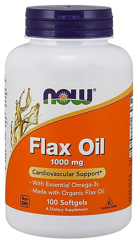 Flax Oil 1000 mg Softgels
