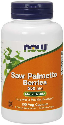 Saw Palmetto Berries 550 mg Veg Capsules