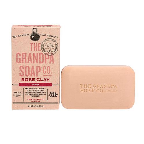 Grandpa's Soap Rose Clay 4.25oz