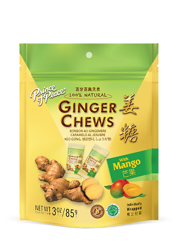 Prince of Peace Ginger Chew Mango 4oz