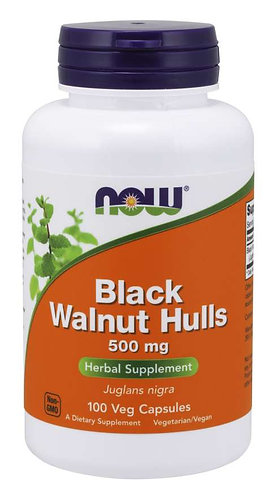 Black Walnut Hulls 500 mg Veg Capsules
