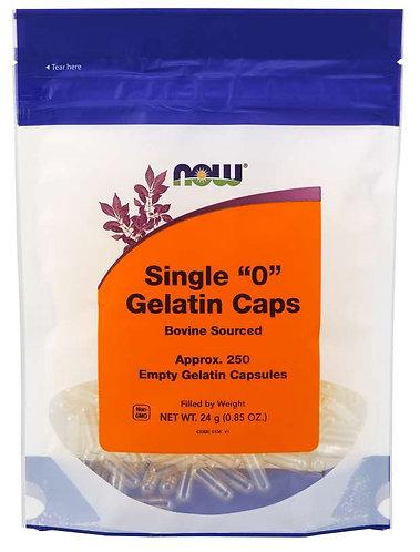 """Empty Capsules, Gelatin, Single """"0"""""""