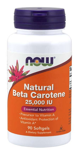 Natural Beta Carotene, Natural 25,000 IU Softgels