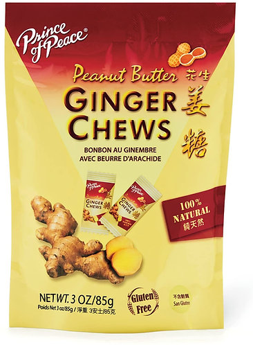 Prince of Peace Ginger Chew Peanut Butter 4oz