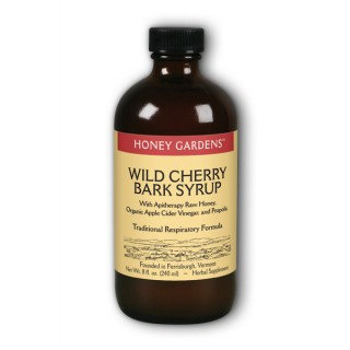 Honey Gardens Wild Cherry Bark Honey Syrup, 8oz