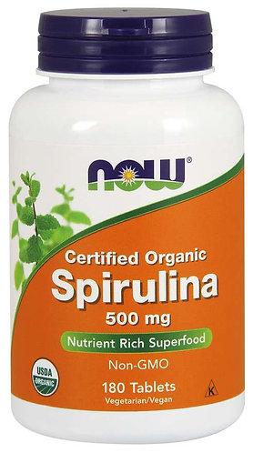 Spirulina 500 mg 180 Tablets, Organic