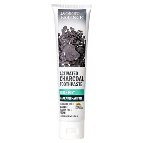 Desert Essence Toothpaste Activated Charcoal 6.25oz