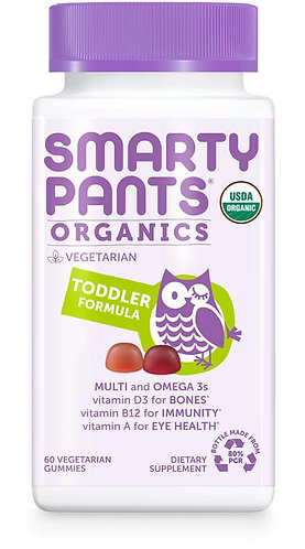 SmartyPants Organic Toddler Complete 60ct