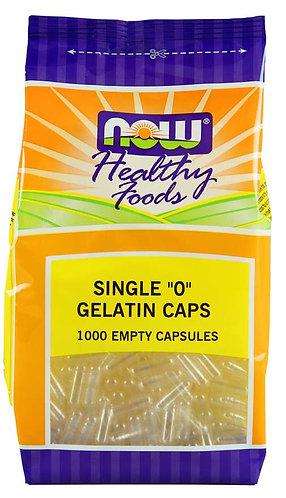 """Empty Capsules, Gelatin, Single """"0""""- 1000 ct"""