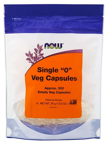 "Empty Capsules, Vegetarian, Single ""0"""