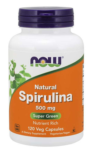 Spirulina, Natural 500 mg Veg Capsules